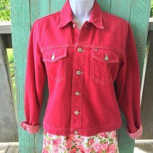 Rare pink Tommy Hilfiger Jean jacket